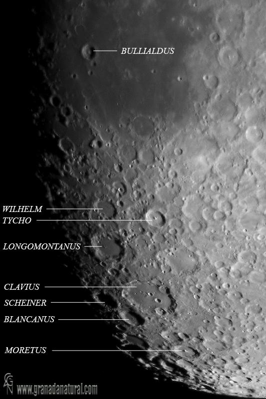 Cr�teres lunares - Limbo Sur