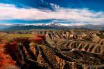 Bad Lands y sierra Nevada desde el mirador del fin del mundo