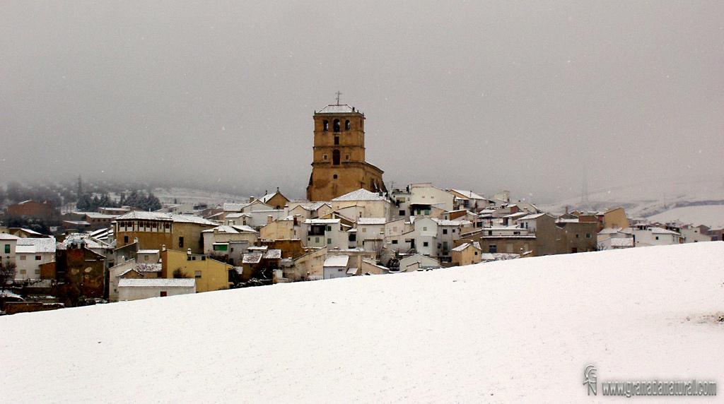 Alhama de Granada nevada. Pueblos de Granada
