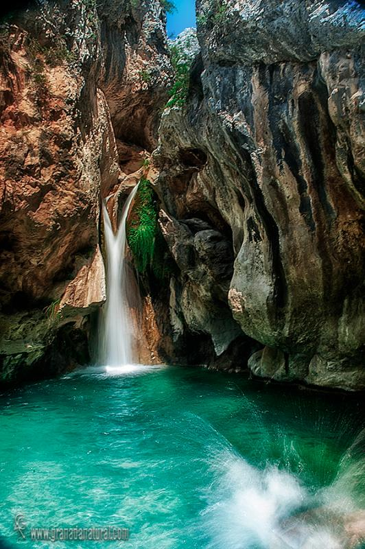 Cascada de la Y. Rio Verde, Paisajes de Granada