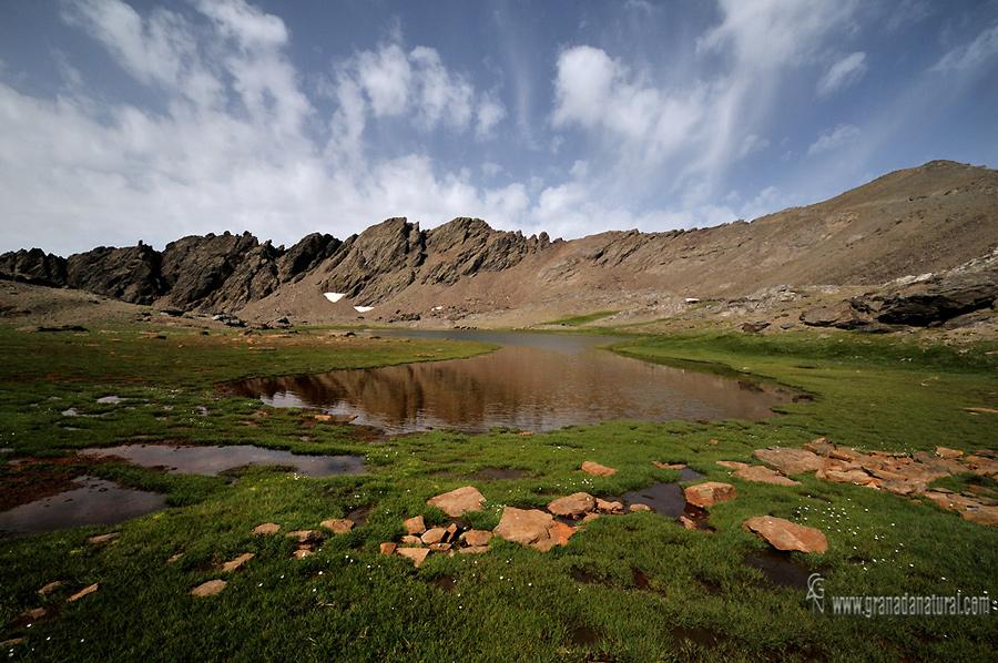 Laguna grande de Rio Seco. Lagunas de Sierra Nevada