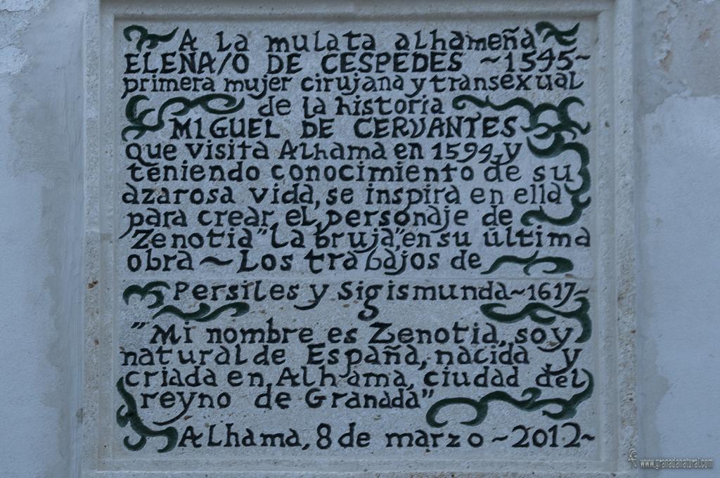 Historias mágicas de Granada. Zenotia y Miguel de Cervantes